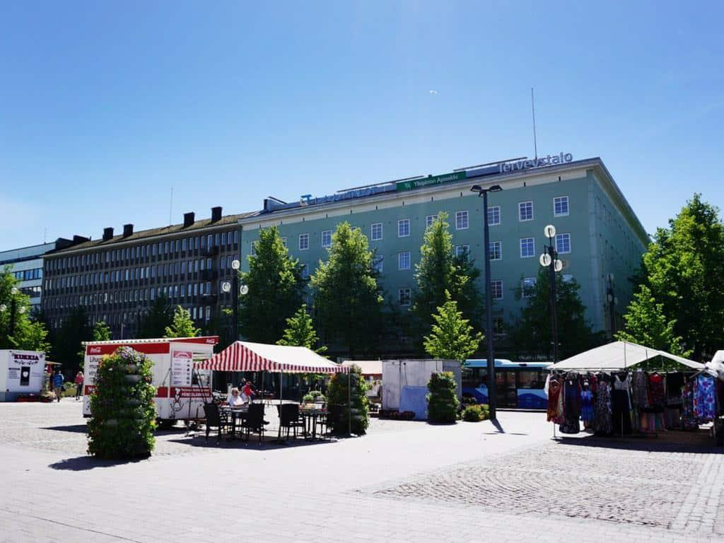 things to do in Lahti: visit the market square