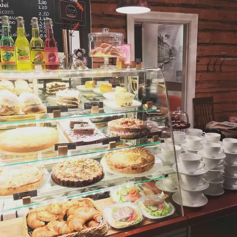 The delicious treats at Cafe Oskari in Lahti