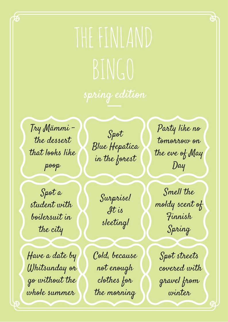 Travel Game for Spring Finland – Free Printable!