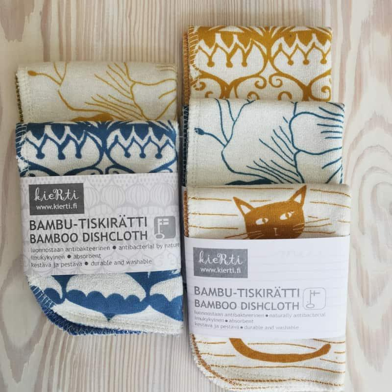 Porvoo Finland has local products like eco dishcloths available in stores of the Old town