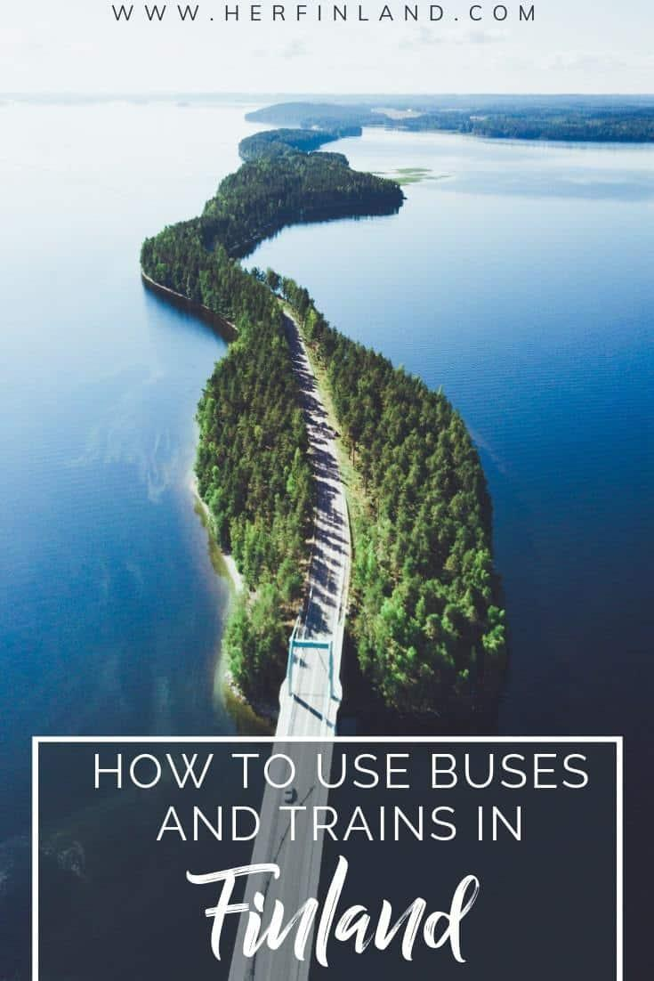 Buses in Finland are very easy to use and same goes for trains too. Click to read this local's guide about train and bus traveling in Finland! #finlandbus #finlandtrain #finlandtravel