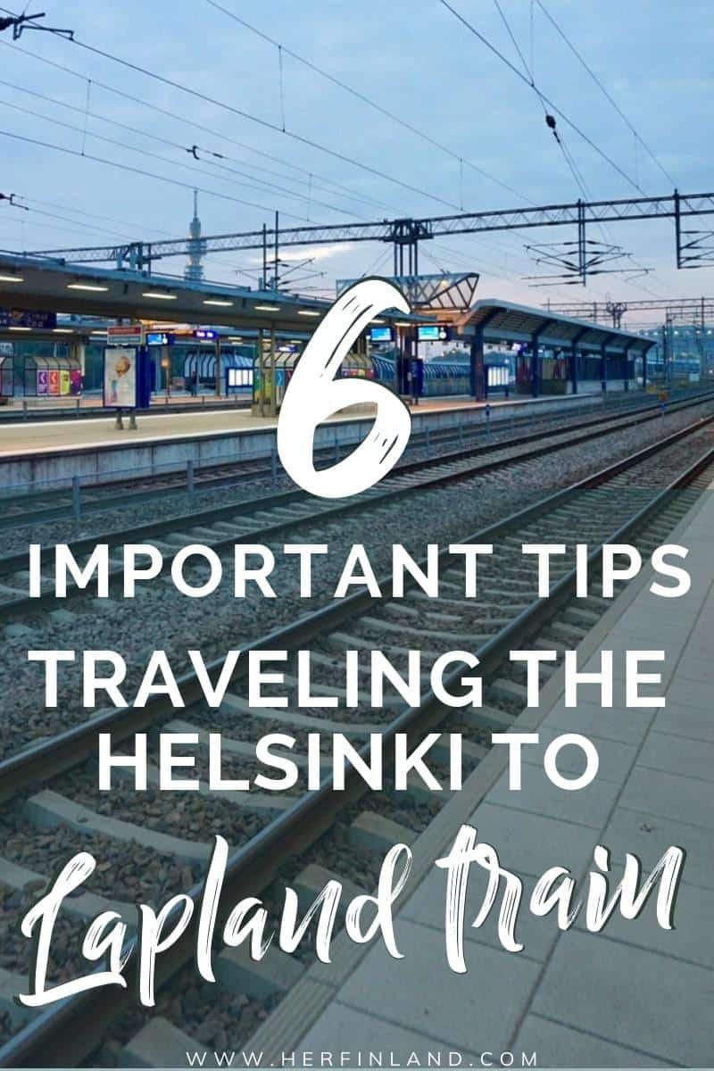 Helsinki to Lapland train is a fantastic way to travel Lapland!