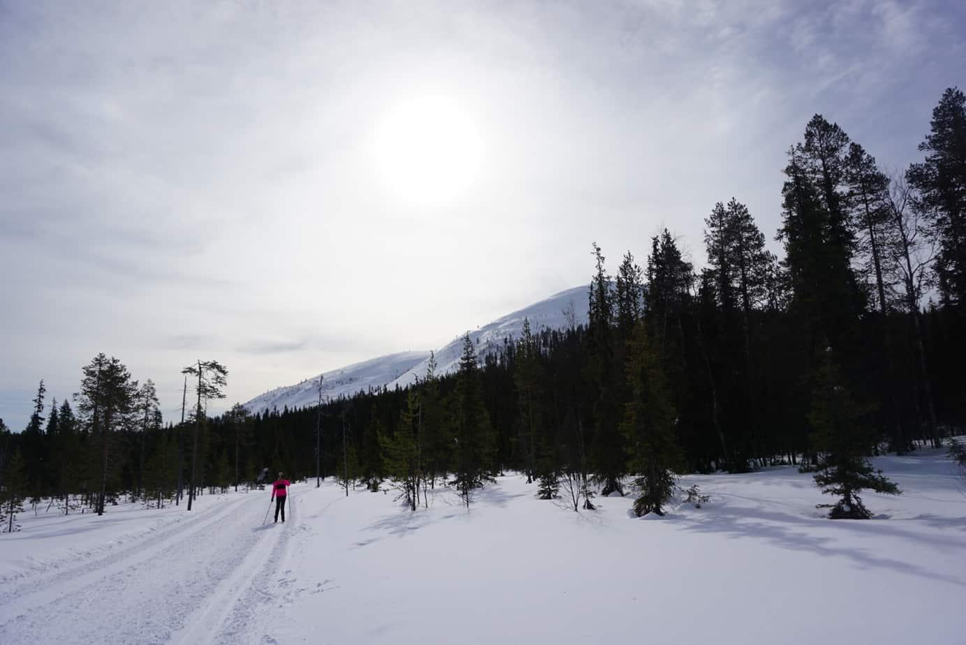 Yllas ski resort has over 300 kms of ski trails