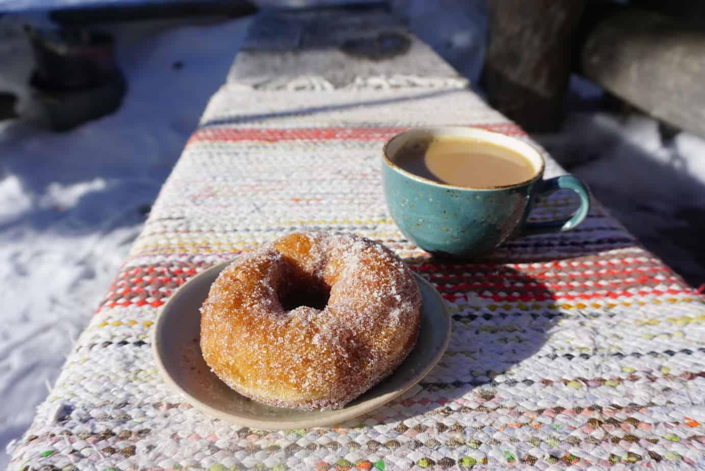 Yllas Ski resort's wilderness cafe Navettagalleria has amazing fresh donuts.