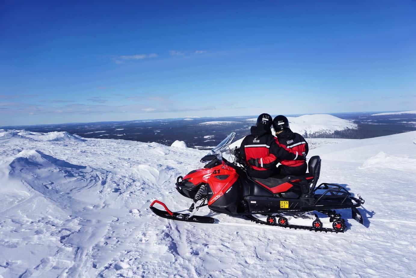 Yllas ski resort in Lapland is full of fun winter activities like snowmobiling!
