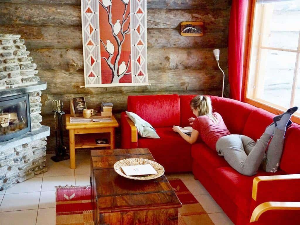 Yllas ski resort is full of cozy cabins you can rent!