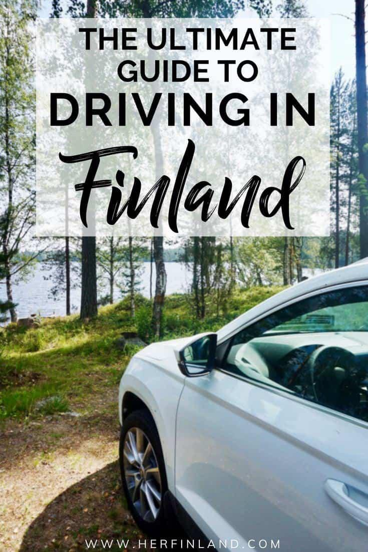 Driving in Finland is lovely: no jams, great roads and beautiful nature!