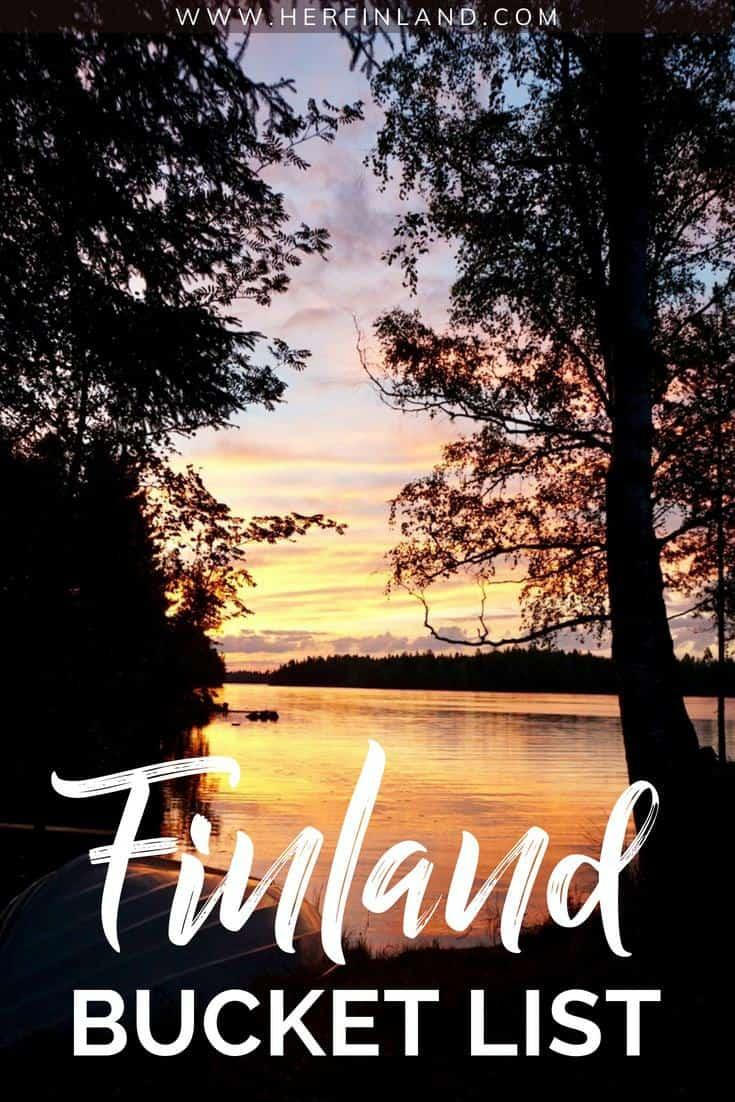 A Finland Bucket list pin for pinterest so you can come back to the article later.