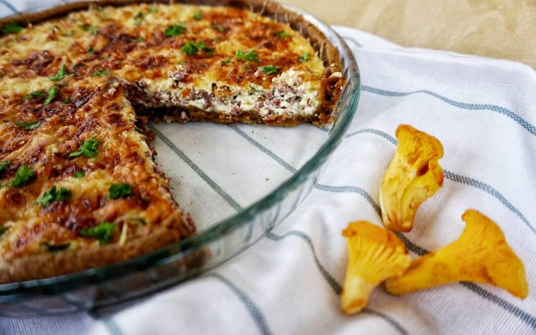 Easy Chanterelle Recipe from Finland: Savory Chanterelle Pie - Her Finland blog