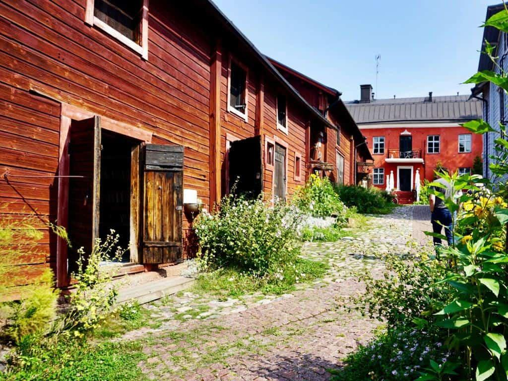 Porvoo in Finland is famous for its charming old town with narrow alleys.