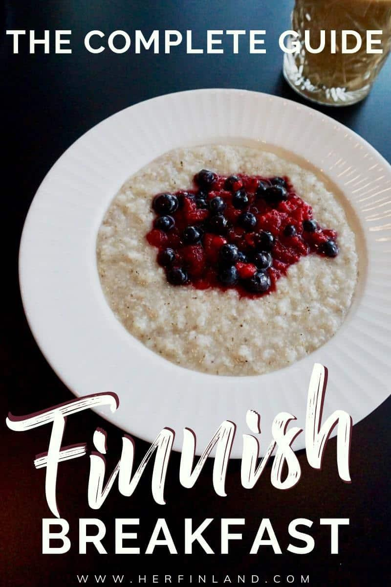 Finnish breakfast is simple and healthy foods with coffee! Read all about what is typical breakfast in Finland! #finland #food