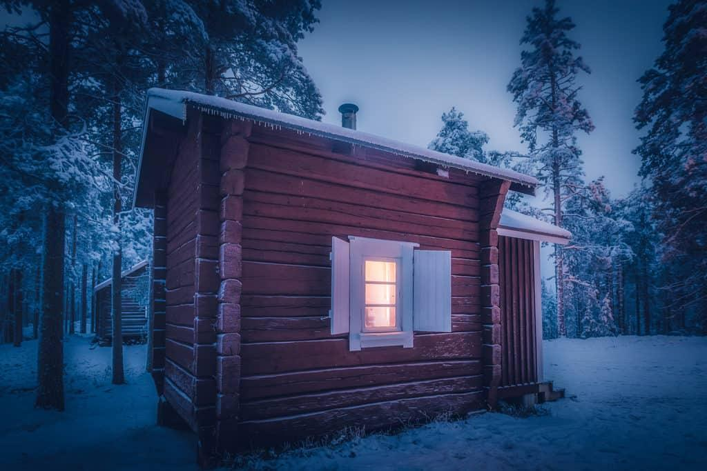 lapland pictures red cottage by Her Finland blog