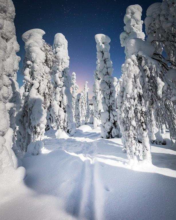 lapland pictures winter ski track by Her Finland blog