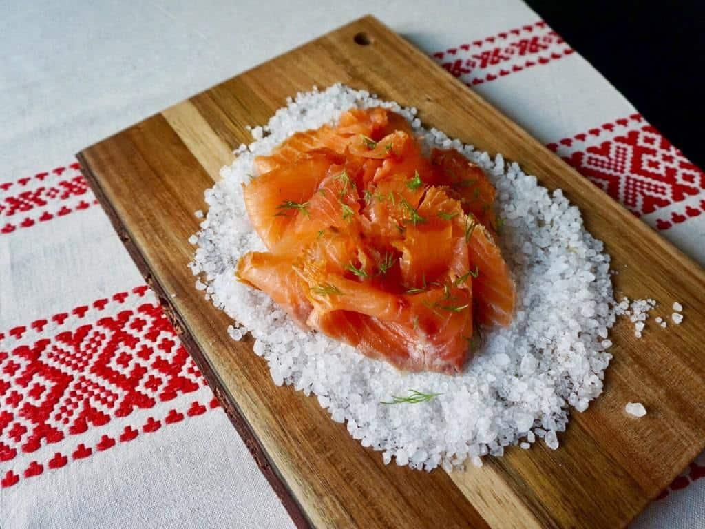 Finnish Christmas foods must include salmon! This tasty fish is marinated or smoked cold or warm! #finnishchristmas