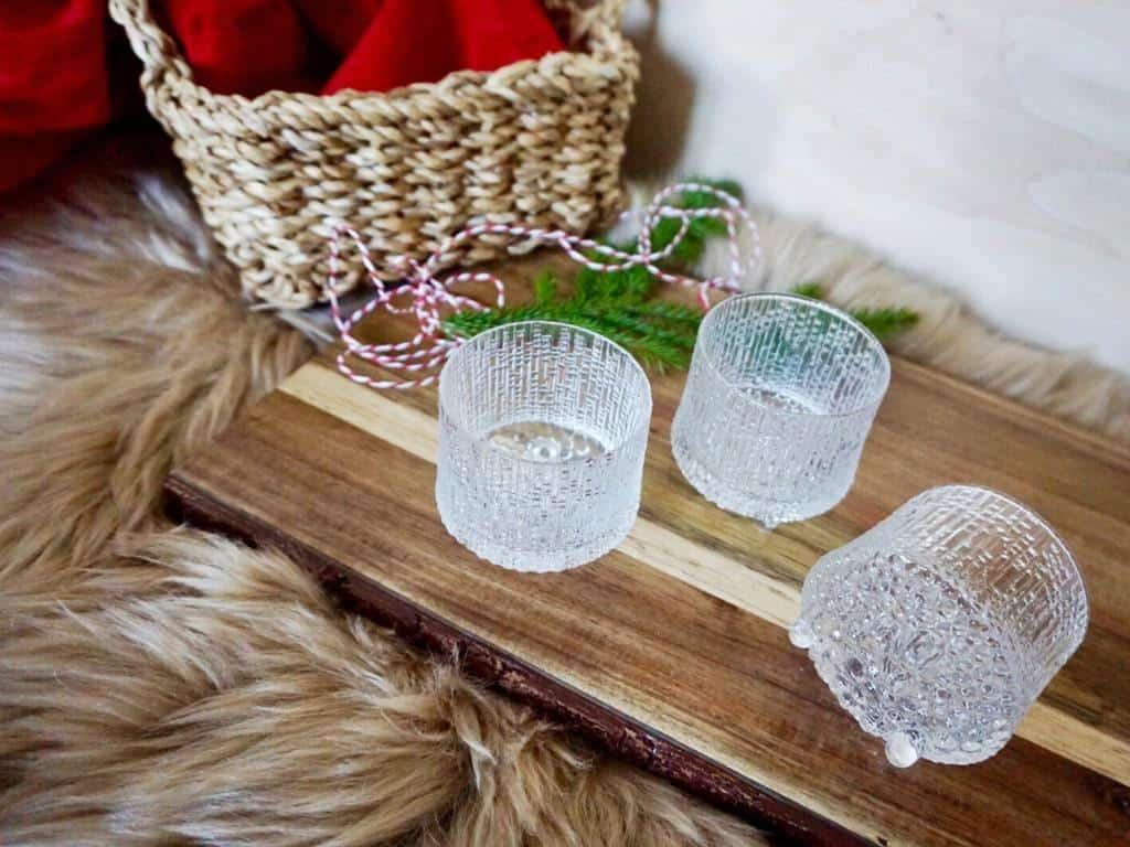 Finnish gifts are amazing Christmas presents! Here the handmade delicate Iittala glasses.