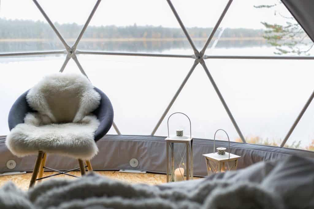 Glass igloos offer spectacular views in Finland by Her Finland blog