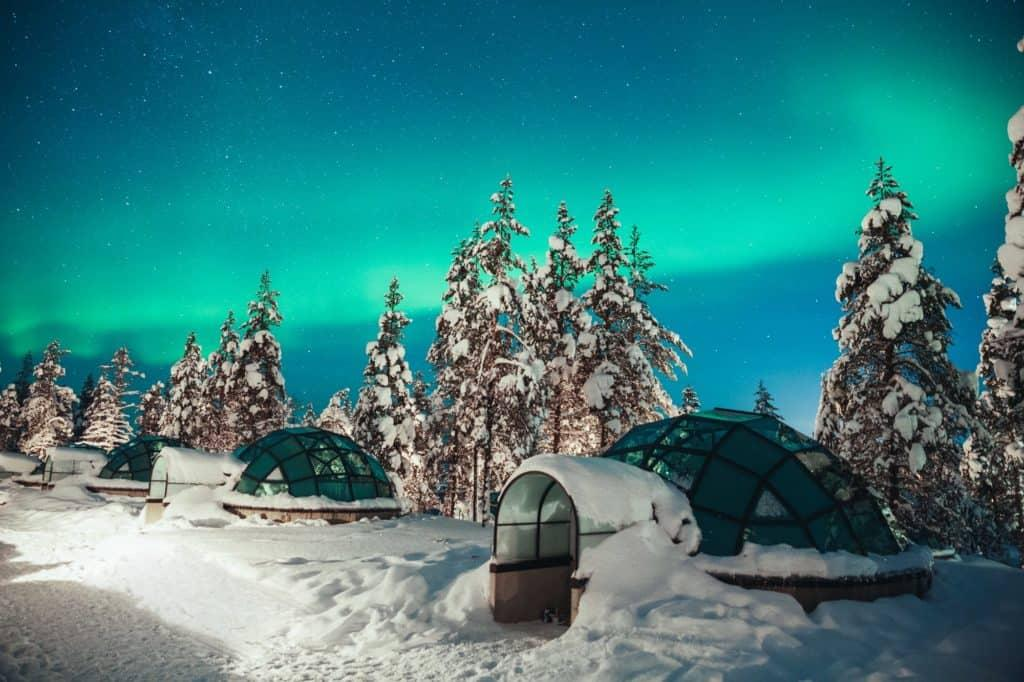 Glass igloos in Finnish Lapland are wonderful accommodation style! By Her Finland blog