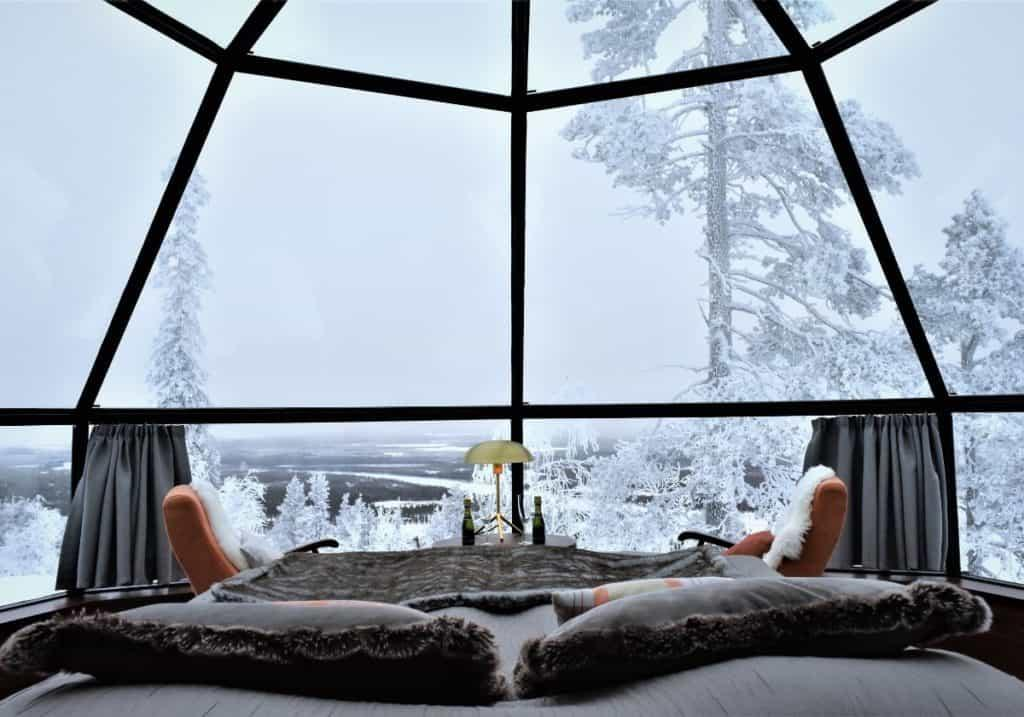 Glass igloos in Levi Lapland by Her Finland blog