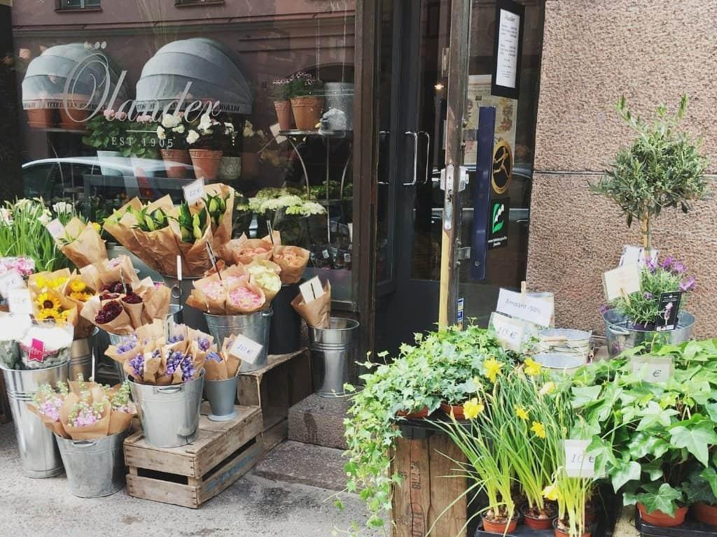 Helsinki off the beaten path flower shop by Her Finland blog