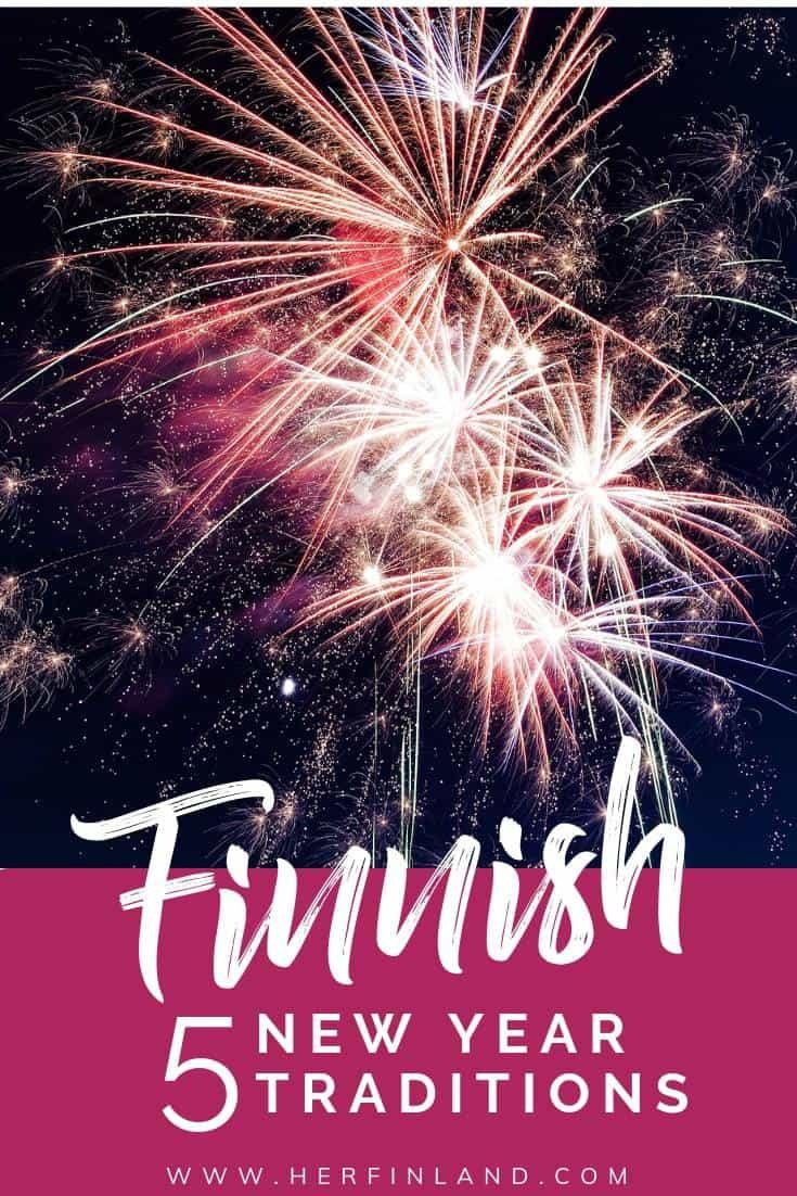 What are Finnish New Year traditions? Read here all about them! #finnishtraditions #newyear