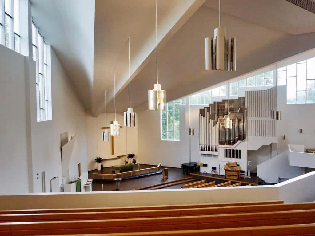 One of the fantastic things to do in Lahti is visiting Ristinkirkko church by Alvar Aalto