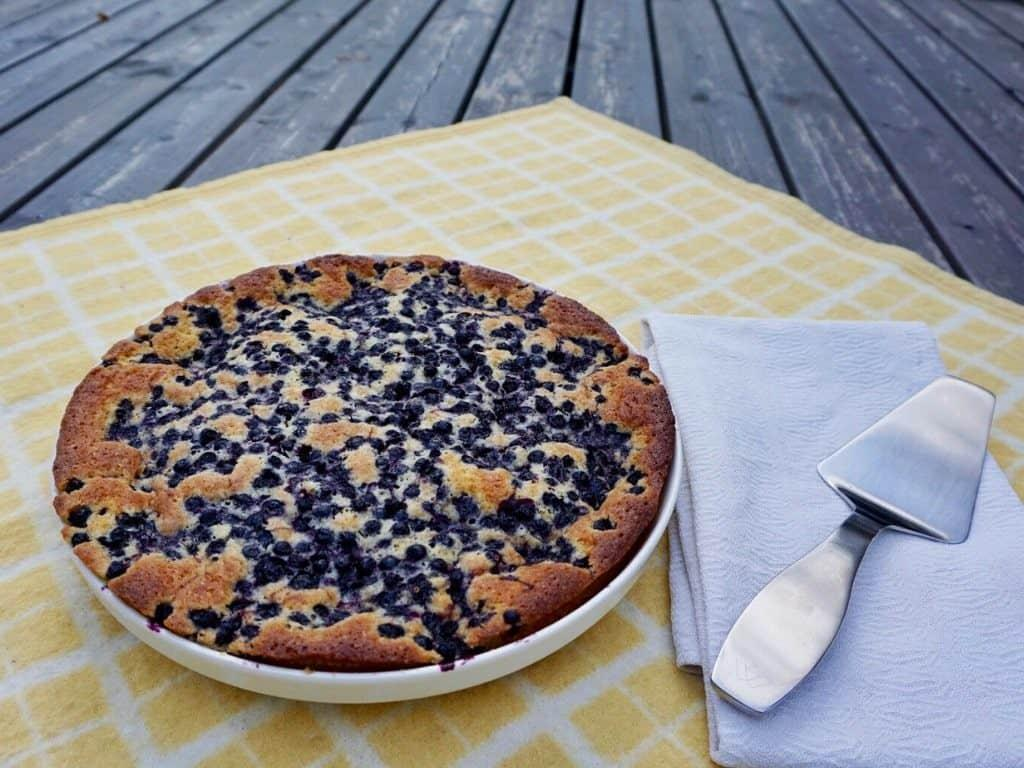 Finnish blueberry pie and easy recipe for it! By Her Finland blog