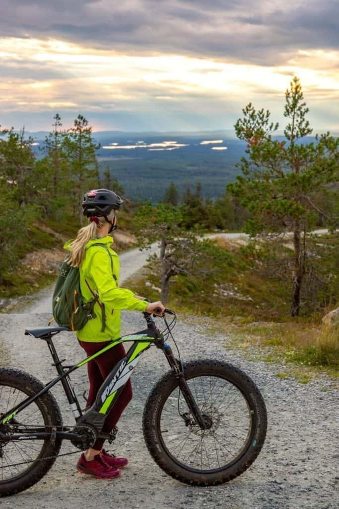 fatbiking in Ruka Fell, Lapland