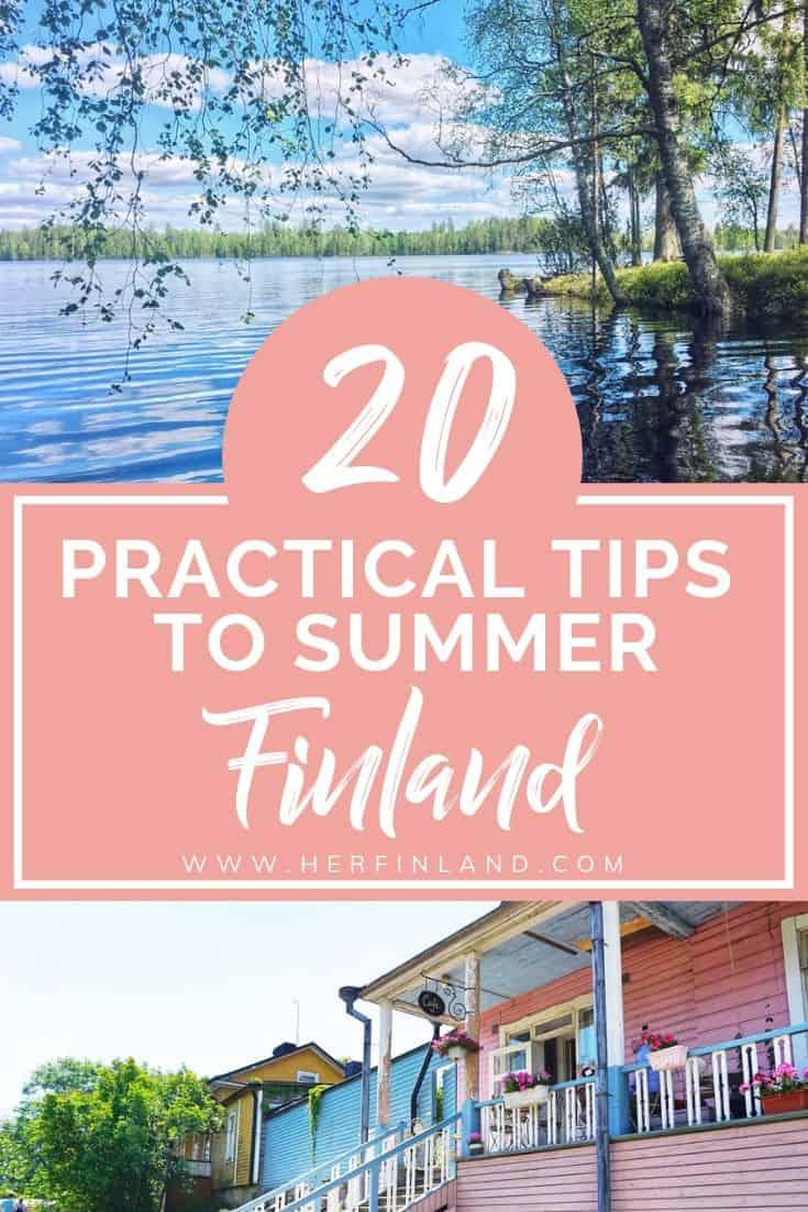 This Finland summer guide by local tells you everything you need to know about summer in Finland #summerfinland