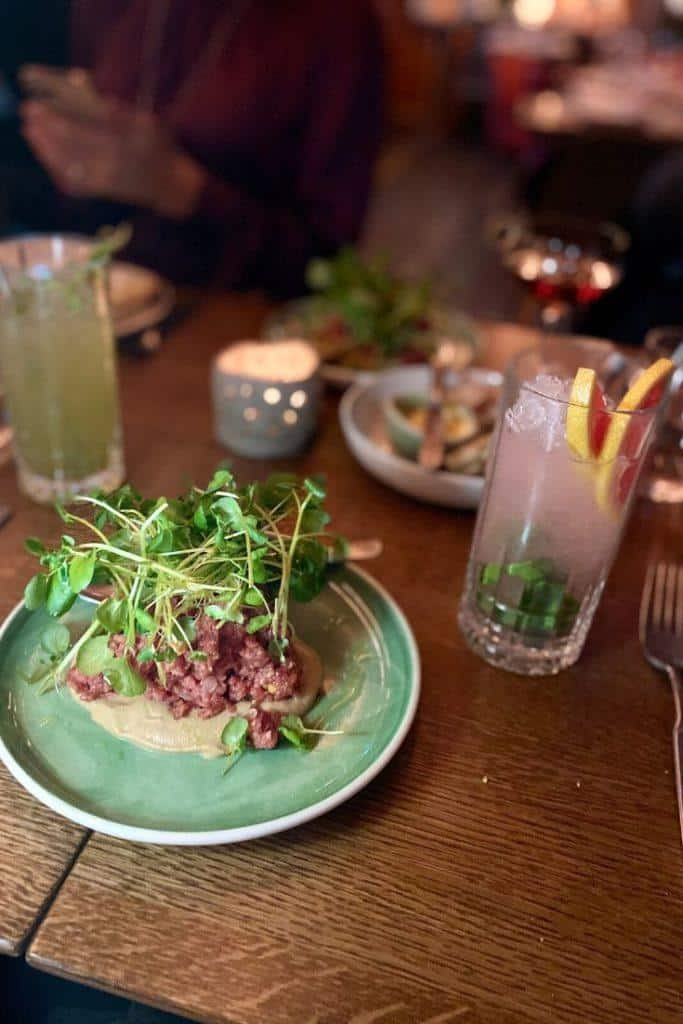 finnish products mixed with british cuisine in a helsinki restaurant