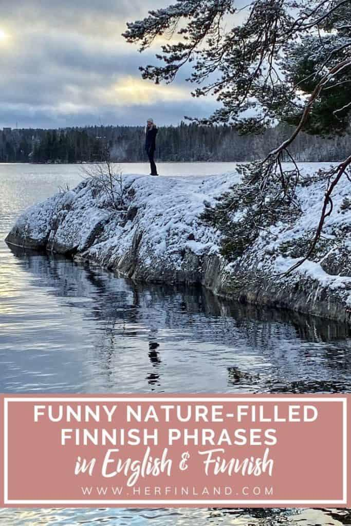 Finnish sayings that include nature
